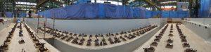 BW-Fixatoren aufgestellt in großer Halle als Vorab-Installation